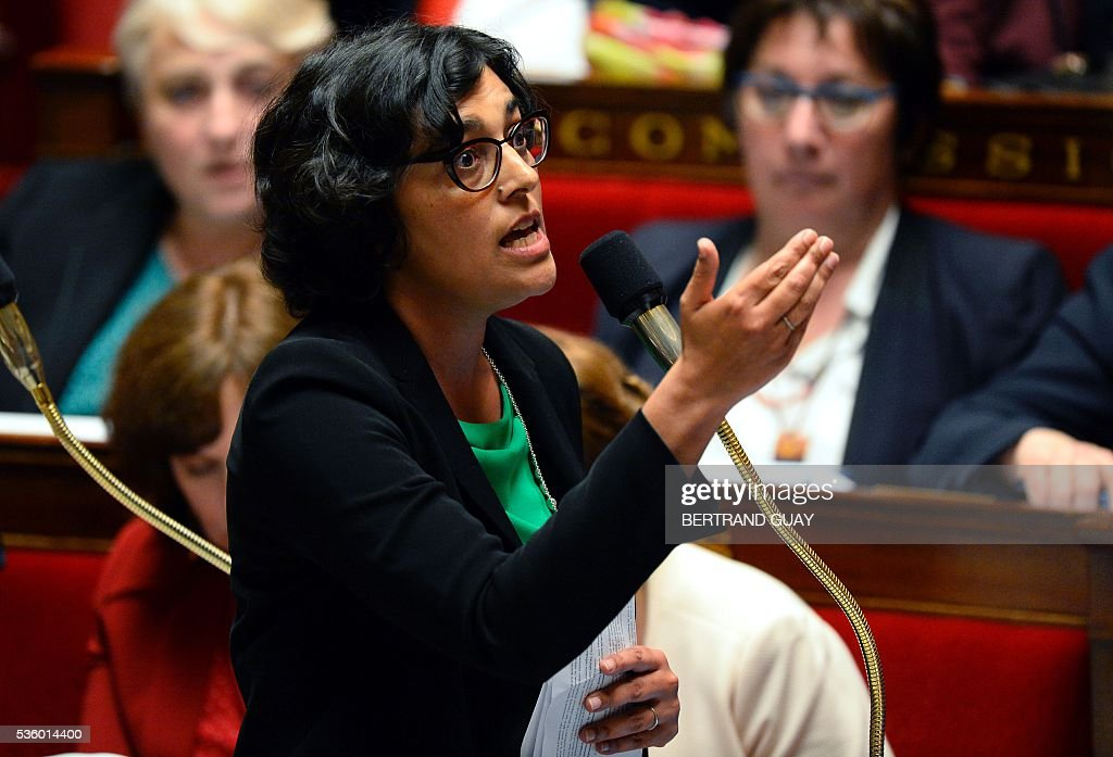 French Labour Minister Myriam El Khomri speaks during a session of questions to the Government at the French National Assembly in Paris, on May 31, 2016.