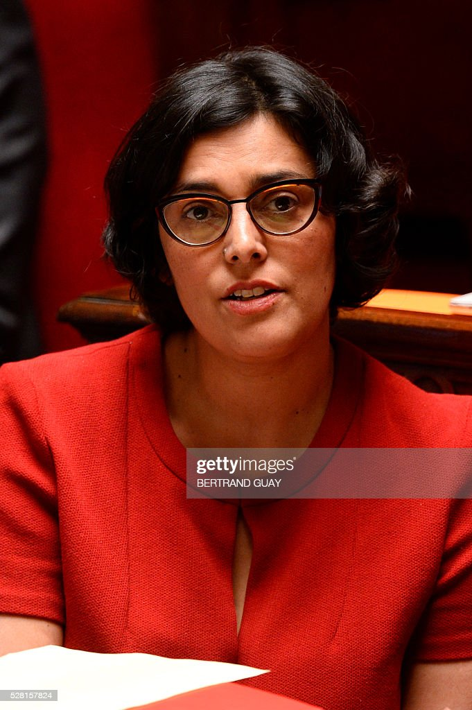 French Labour minister Myriam El-Khomri attends a debate on the controversial labour reform bill at the French National Assembly in Paris, on May 4, 2016. French government says the bill is designed to unlock France's rigid labour market and cut stubbornly high unemployment of around 10 percent -- the issue that has dogged Socialist President Francois Hollande's four years in power.