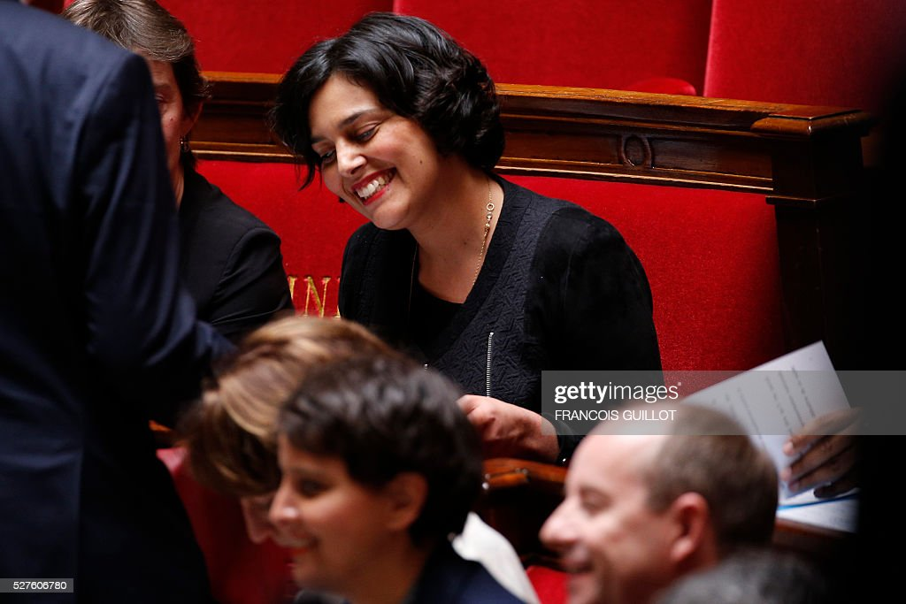 French Labour minister Myriam El-Khomri is pictured during a session of Questions to the government, on May 3, 2016 at the French National assembly in Paris.