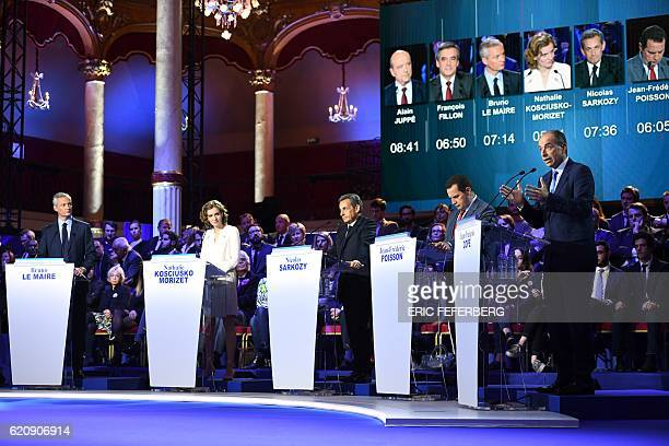 French lawmaker and candidate for the rightwing Les Republicains party primaries ahead of the 2017 presidential election JeanFrancois Cope speaks as...