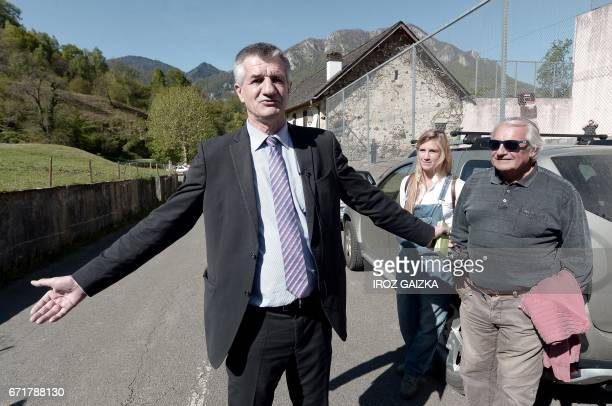 French lawmaker and independent candidate for French presidential election Jean Lassalle poses for photographs after casting his ballot in...