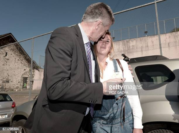 French lawmaker and independent candidate Jean Lassalle embraces Nina Cihak an Austrian national who travelled especially from Italy to meet him...