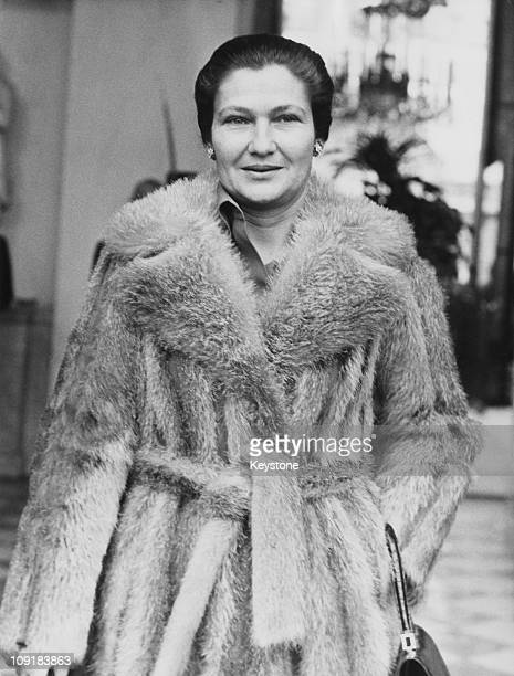 French lawyer and politician Simone Veil the Minister of Health outside the Elysee Palace in Paris 13th November 1974 That morning the ministers had...