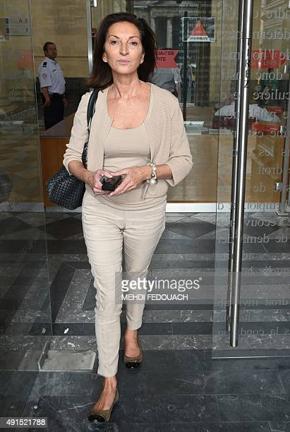 French lawyer Caroline FremiotBetscherormer who is representing the former authorised representative of the French L'Oreal heiress leaves the...