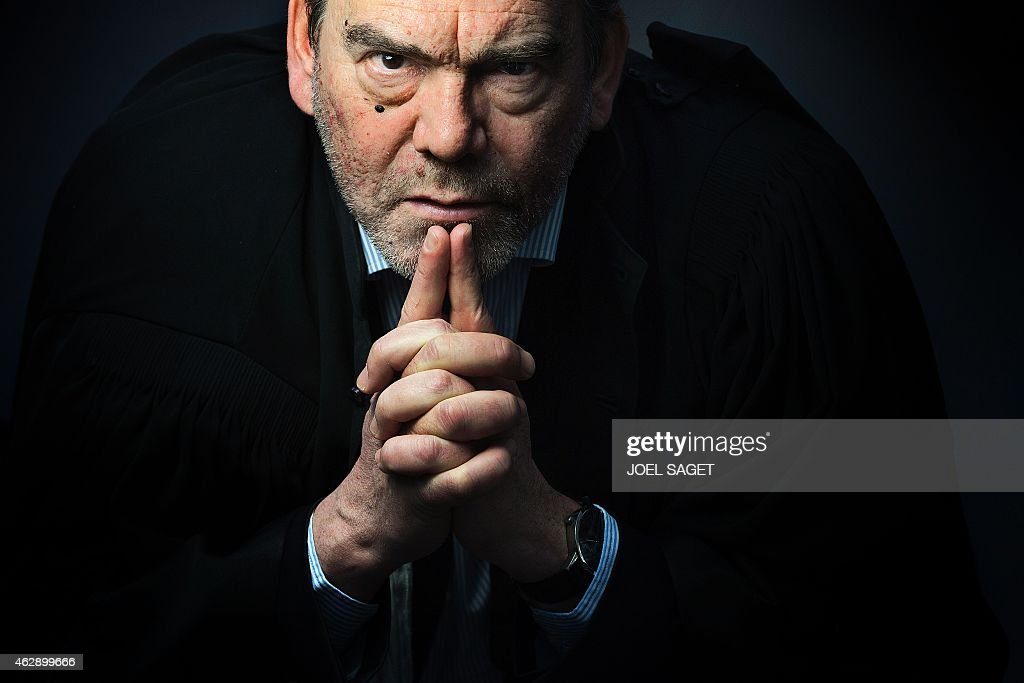 French lawyer Franck Berton poses in a photo studio in Paris on February 3, 2015 in Paris. AFP PHOTO JOEL SAGET