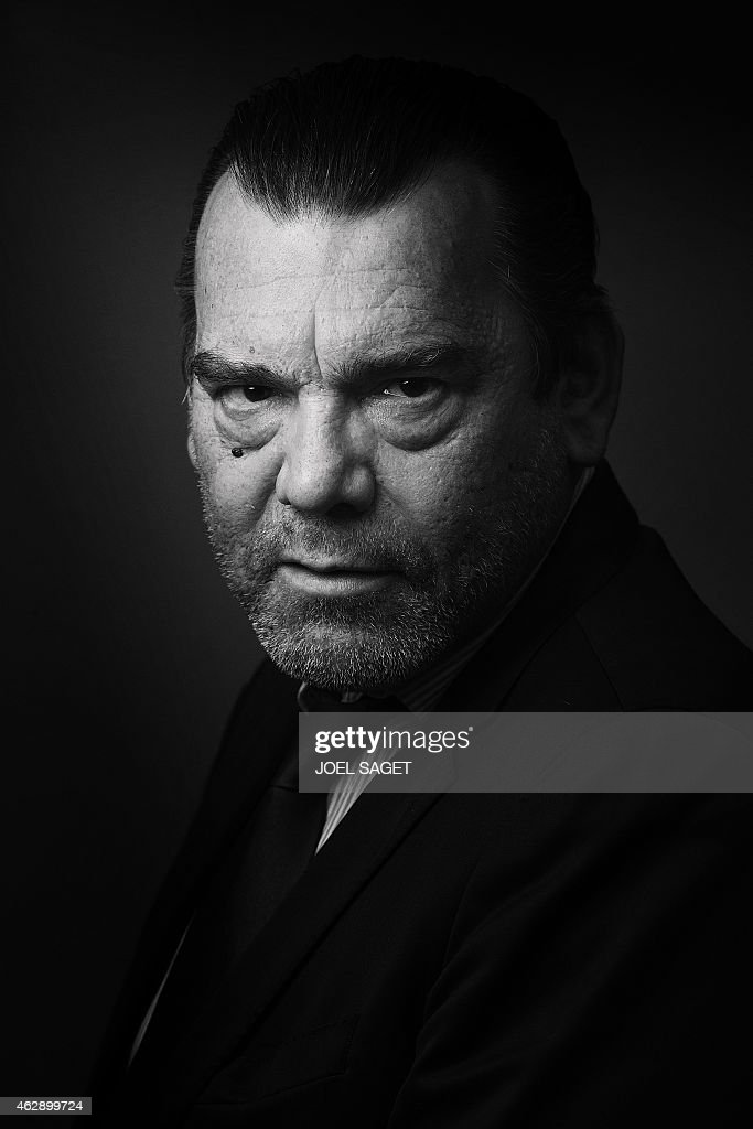 French lawyer Franck Berton poses in a photo studio in Paris on February 3, 2015 in Paris. Version black & white AFP PHOTO JOEL SAGET