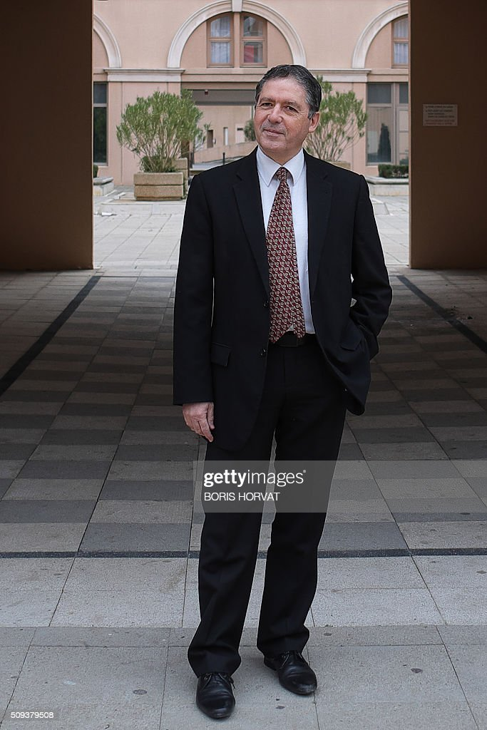French lawyer of the Catholic group Promouvoir (Promote) Andre Bonnet, poses in Aix-en-Provence on February 10, 2016. A French court banned Lars von Trier's ultra-violent film 'Antichrist' on February 3, 2016, with the traditionalist Catholic group Promouvoir (Promote) who brought the case also threatening to have Quentin Tarantino's new film also pulled from cinemas. The same group also managed to have two other sexually explicit films temporarily withdrawn from French screens in the past year. Gaspar Noe's erotic odyssey 'Love' was banned by the courts in July and the permit for 'Blue is the Warmest Colour', which won the top Palme d'Or prize at Cannes in 2013, was withdrawn in December over its lesbian scenes. / AFP / BORIS HORVAT