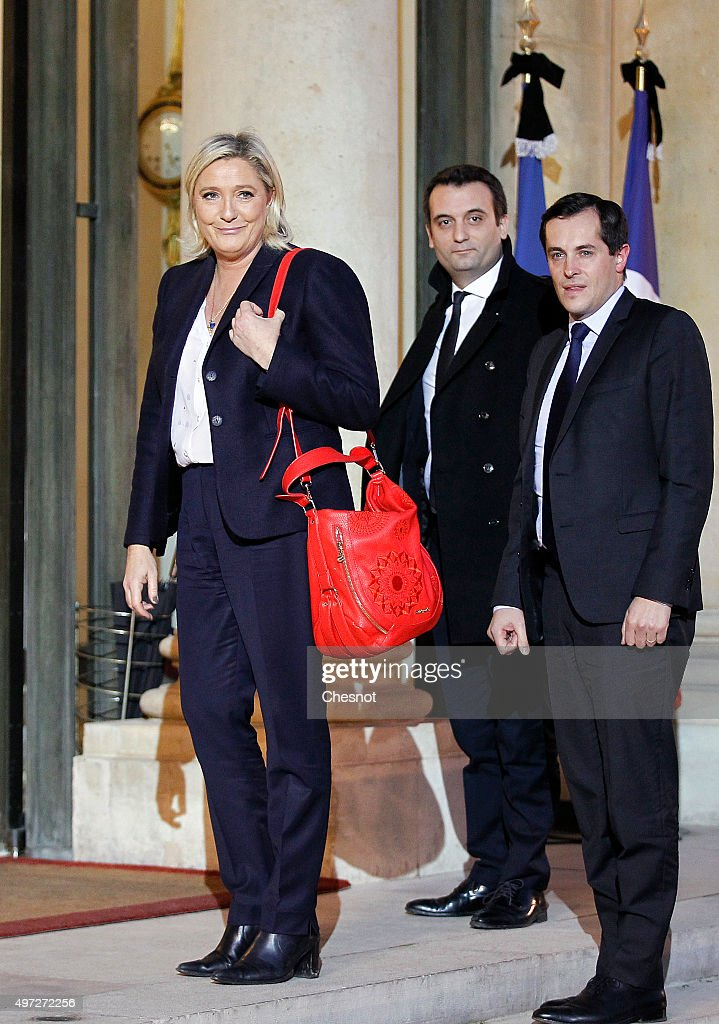 French President Francois Hollande Receives France Party Leaders At Elysee Palace