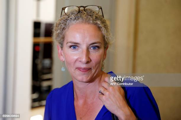French left wing Socialist party MP Delphine Batho attends a joint press conference with newly reelected French socialist party's spokesperson and MP...