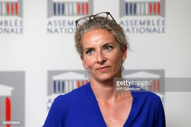 French left wing Socialist party MP Delphine Batho looks on during a joint press conference with newly reelected French socialist party's...