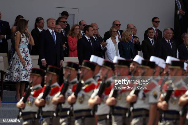 French Legion soldiers march down the ChampsElysees during the traditional Bastille day military parade on July 14 2017 in Paris France Bastille Day...