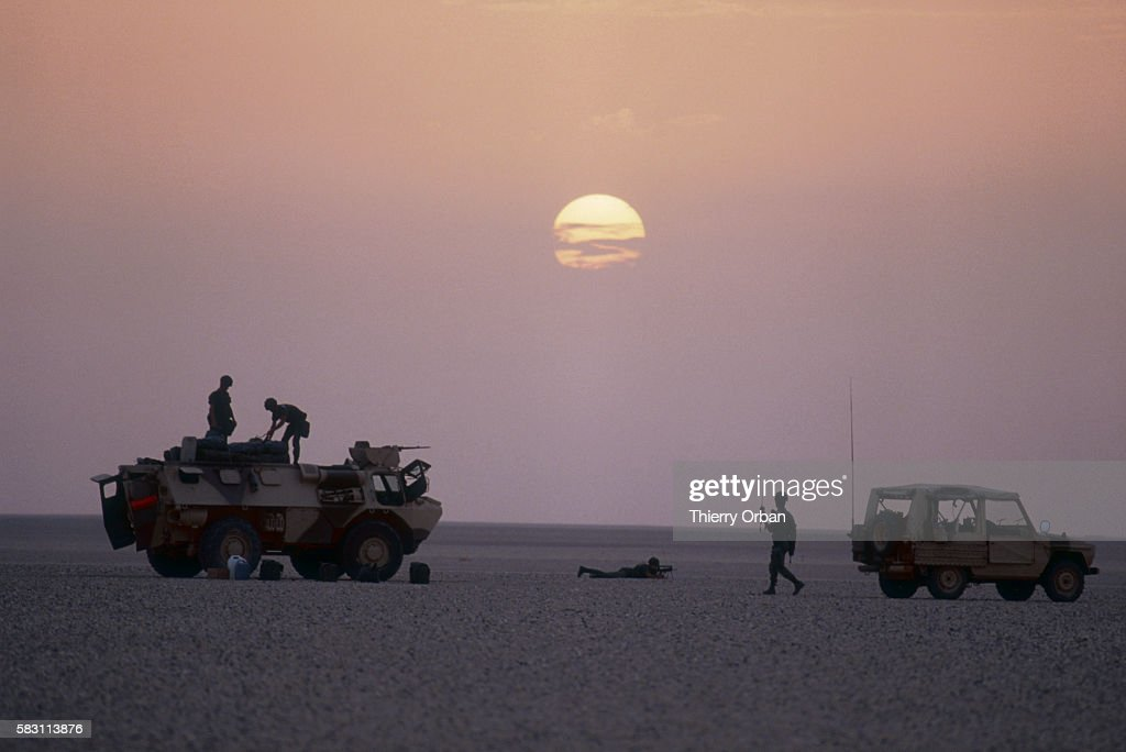 French legionnaires are deployed near the Iraqi border after their arrival in Saudi Arabia during the Persian Gulf War In August of 1990 Iraqi...