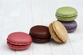 French macaroons in lovely pastel colours