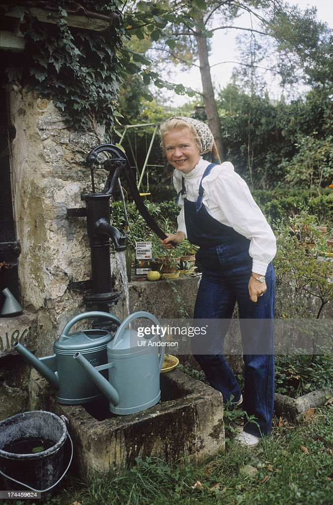 French magistrate <a gi-track='captionPersonalityLinkClicked' href=/galleries/search?phrase=Eva+Joly&family=editorial&specificpeople=2884273 ng-click='$event.stopPropagation()'>Eva Joly</a> in her garden during September 1981 near Sens,France.