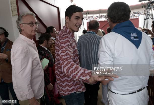 French matador Thomas Dufau arrives at Plumacon arena in MontdeMarsan southwestern France during the festival of La Madeleine on July 21 2017 / AFP...