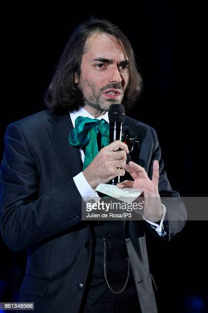 French mathematician and Parliament Member Cedric Villani attends the third edition of Bpifrance INNO generation at AccorHotels Arena on October 12...