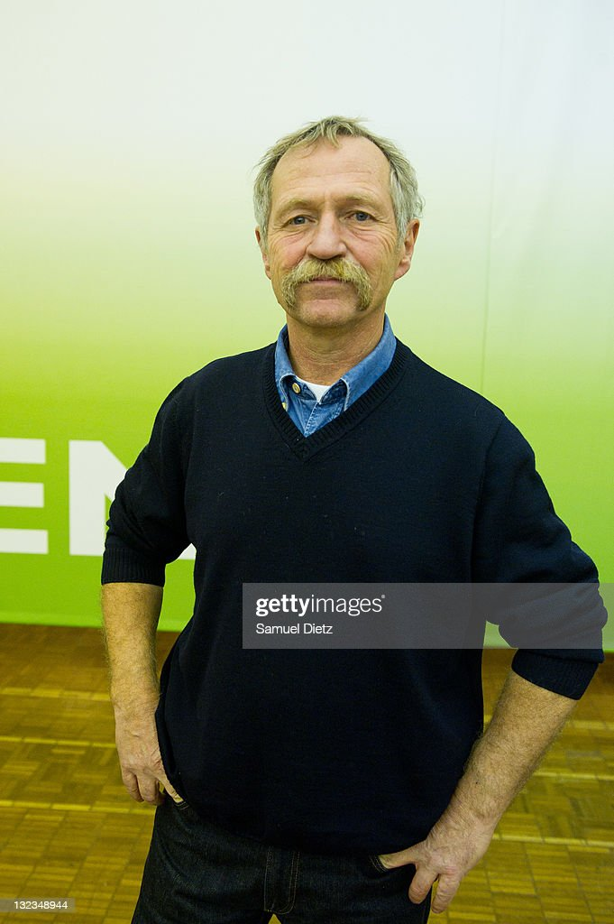 French Member of European Parliament <a gi-track='captionPersonalityLinkClicked' href=/galleries/search?phrase=Jose+Bove&family=editorial&specificpeople=211205 ng-click='$event.stopPropagation()'>Jose Bove</a> attends day 1 of the 4th European Greens Congress at Maison de la Chimie on November 11, 2011 in Paris, France. The European Greens Congress is held every two and a half years to amend the governing statutes and reassess the aims and organisation of the European Green Party.