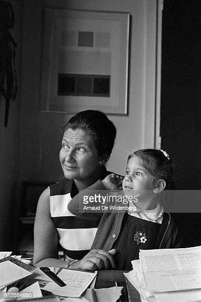 French member of Europeen Parliament Simone Veil at home