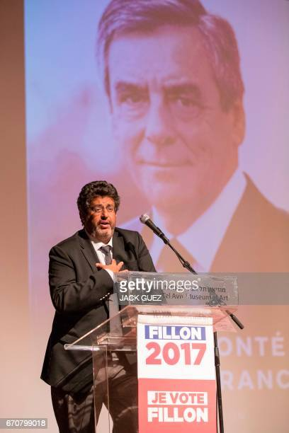 French Member of Parliament and deputy of the 8th district for French nationals living abroad Meyer Habib addresses Israelis with French nationality...