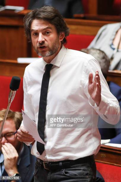 French Member of Parliament for La Republique en Marche party Erwan Balanant speaks during a debate on a draft law on the moralisation of political...