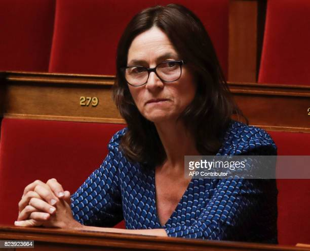French Member of Parliament for La Republique en Marche party Sandrine Morch attends a debate on a draft law on the moralisation of political life at...