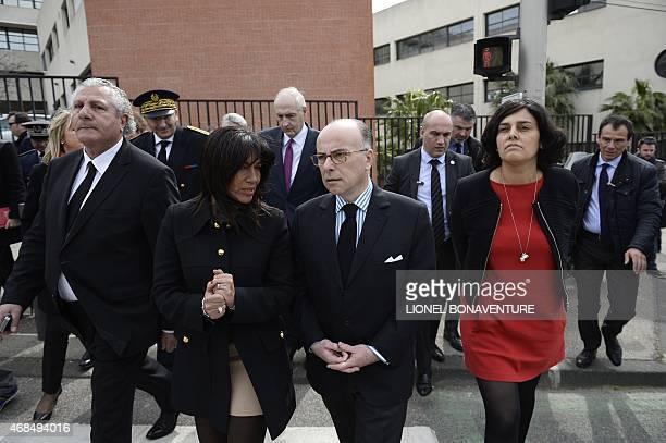 French member of Parliament Henri Jibrayel French Interior minister Bernard Cazeneuve French junior minister for Urban Policy Myriam El Khomri and...