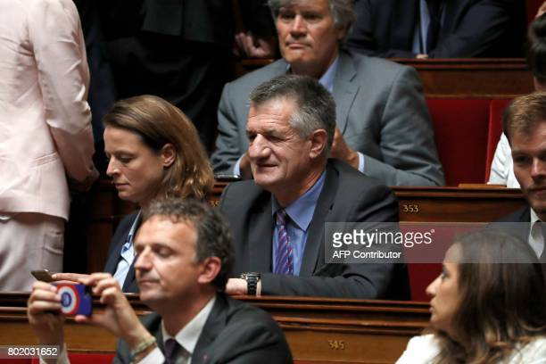 French Member of Parliament Jean Lassalle attends the inaugural session of the 15th legislature of the French Fifth Republic at the National Assembly...
