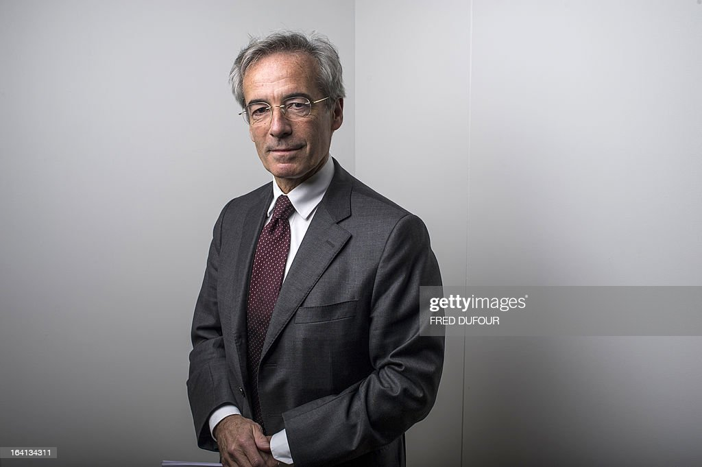 French Metal Industries Federation (UIMM) Chairman Frederic Saint-Geours poses on March 20, 2013 during the inauguration of a space dedicated to technological industries at the Cite des Sciences in Paris.