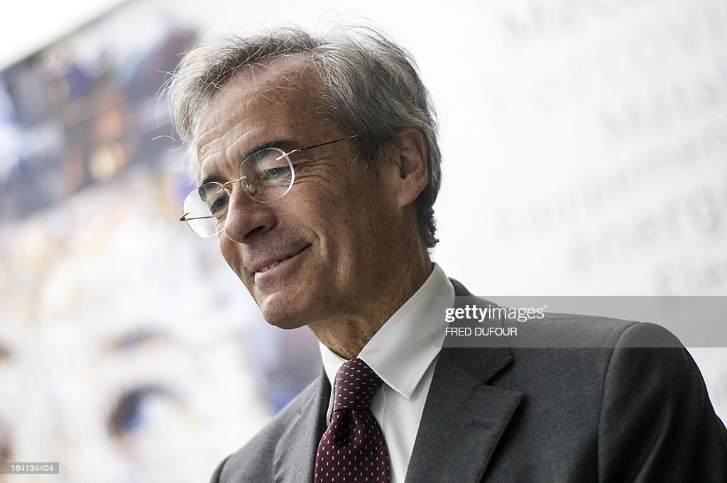 French Metal Industries Federation (UIMM) Chairman Frederic Saint-Geours attends on March 20, 2013 the inauguration of a space dedicated to technological industries at the Cite des Sciences in Paris.