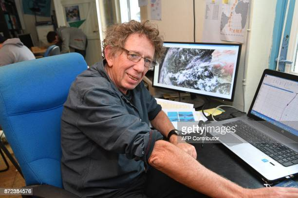 French meteorologist and navigator JeanYves Bernot the route planner of French yacht racer Francois Gabart who is making a record attempt to sail...