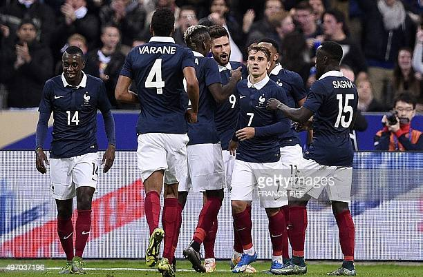 French midfielder Blaise Matuidi French defender Raphael Varane French midfielder Paul Pogba French forward Olivier Giroud French midfielder Antoine...