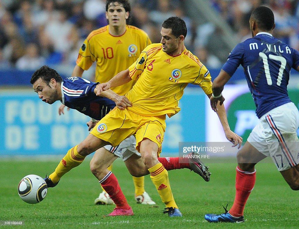 French midfielder Mathieu Valbuena vies