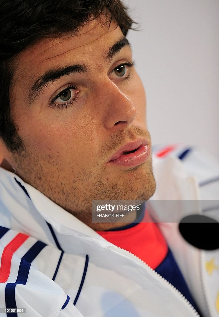 French midfielder Yoann Gourcuff speaks during a press conference in Knysna on June 6, 2010 ahead of the start of the 2010 World Cup football tournament.