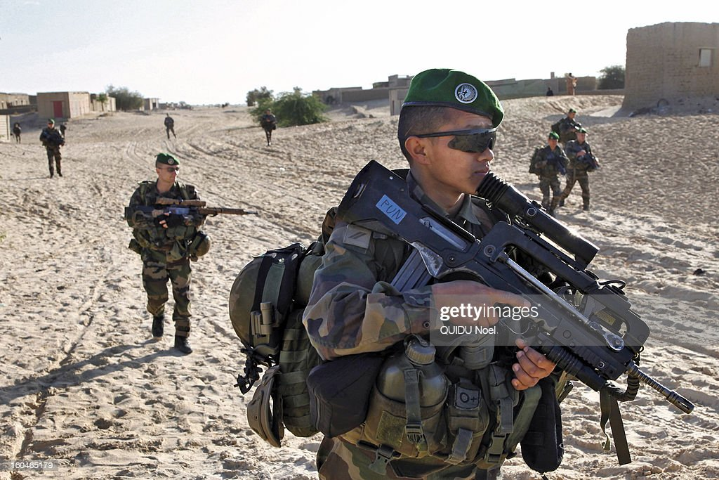 French military intervention in Mali Serval operation against the Islamic jihad, the release of Timbuktu,on January 29, 2013.