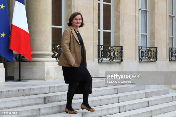 French Minister attached to the Foreign Affairs Minister Nathalie Loiseau leaves the Elysee Presidential Palace after the weekly cabinet meeting...