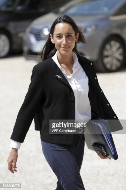 French Minister attached to the Minister of Ecological and Inclusive Transition Brune Poirson leaves the Elysee Palace in Paris after the first...