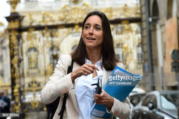 French Minister attached to the Minister of Ecological and Inclusive Transition Brune Poirson arrives for the Government seminar in Nancy on July 1...