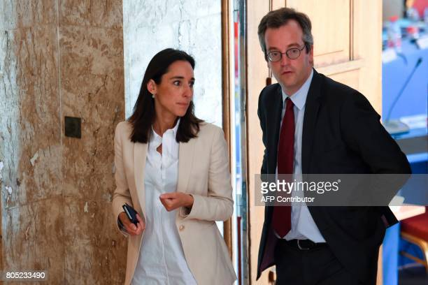 French Minister attached to the Minister of Ecological and Inclusive Transition Brune Poirson attends a government seminar in Nancy on July 1 2017 /...