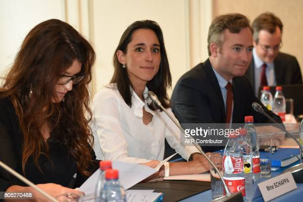 French Minister attached to the Minister of Ecological and Inclusive Transition Brune Poirson poses during a governmental seminar in Nancy on July 1...