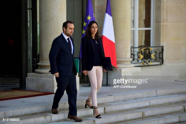 French Minister attached to the Minister of Ecological and Inclusive Transition Sebastien Lecornu and French Minister attached to the Minister of...