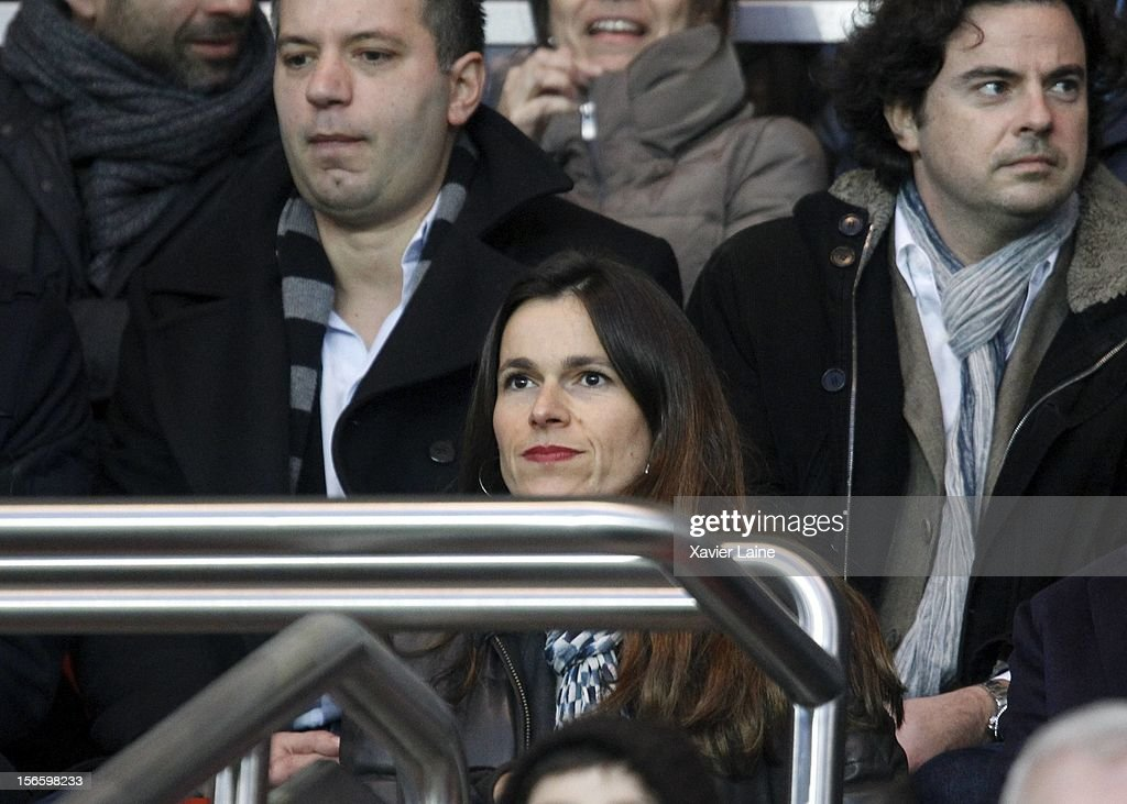 French minister <a gi-track='captionPersonalityLinkClicked' href=/galleries/search?phrase=Aurelie+Filippetti&family=editorial&specificpeople=4273748 ng-click='$event.stopPropagation()'>Aurelie Filippetti</a> attends the French Ligue 1 between Paris Saint-Germain FC and Stade Rennais FC, at Parc des Princes on November 17, 2012 in Paris, France.