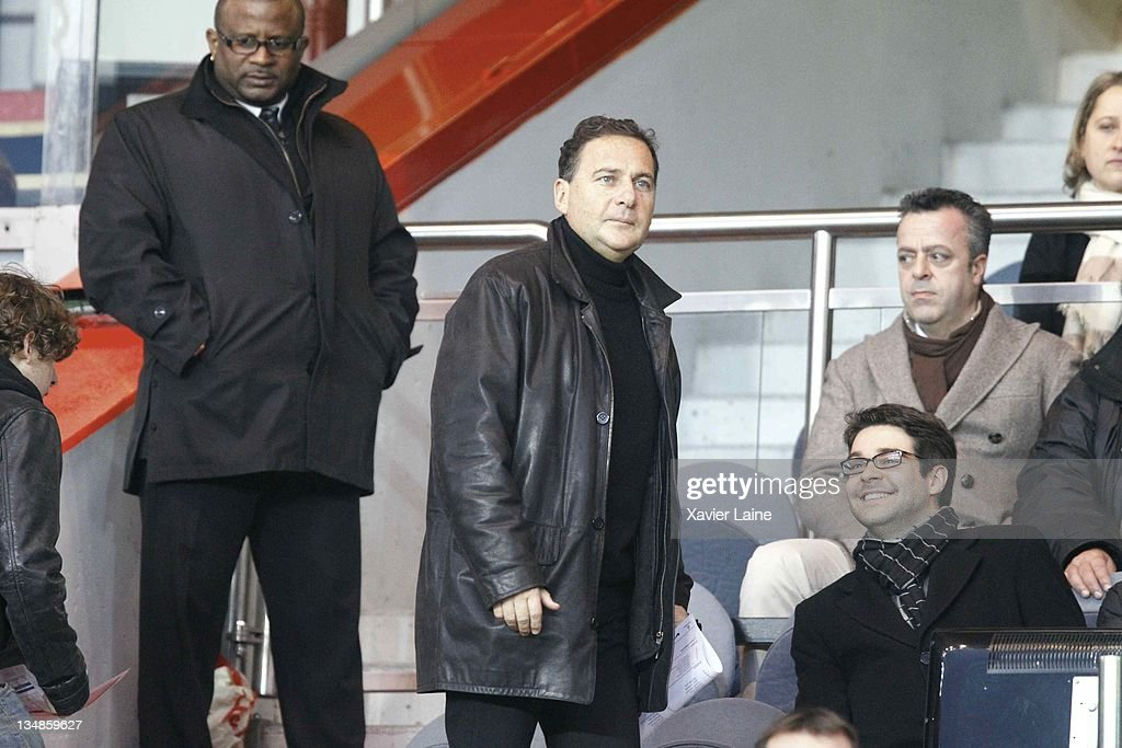 French Minister Eric Besson attends the French Ligue 1 match between Paris Saint Germain and Auxerre at Parc des Princes on December 4, 2011 in Paris, France.