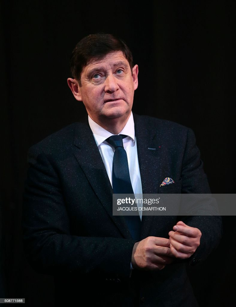 French minister for Cities, Youth and Sport Patrick Kanner attends the Paris Grand Slam Judo tournament on February 6, 2016 in Paris. / AFP / JACQUES DEMARTHON