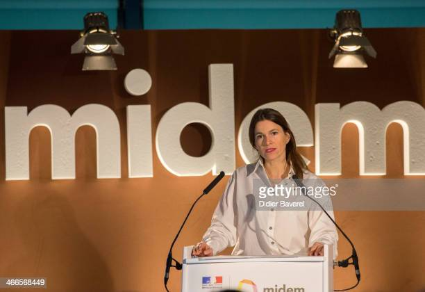 French Minister for Culture and Communication Aurelie Filippetti gives a press conference during the official opening of the 48th Edition of the...