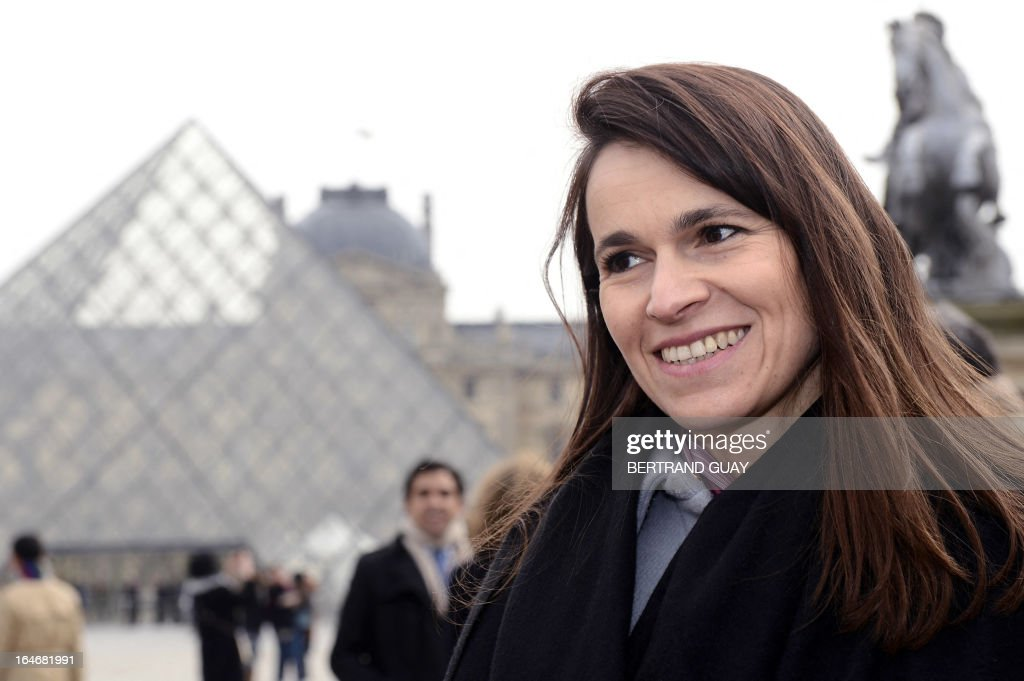 French Minister for Culture and Communication Aurelie Filippetti attends on March 26, 2013 a visit of the exhibition 'De l'Allemagne, 1800-1939 - From Friedrich to Beckmann' at the Louvre museum in Paris .