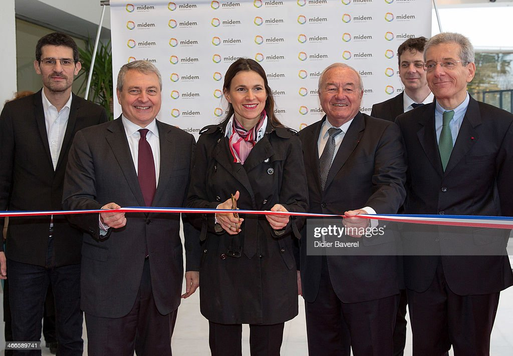 French Minister for Culture and Communication Aurelie Filippetti opens the 48th Edition of the MIDEM annual music tade fair at the Palais des Festivals on February 2, 2014 in Cannes, France.