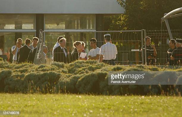 French Minister for Ecology Nathalie KosciuskoMorizet attends the site of an explosion at the Marcoule Nuclear Plant on September 12 2011 in...