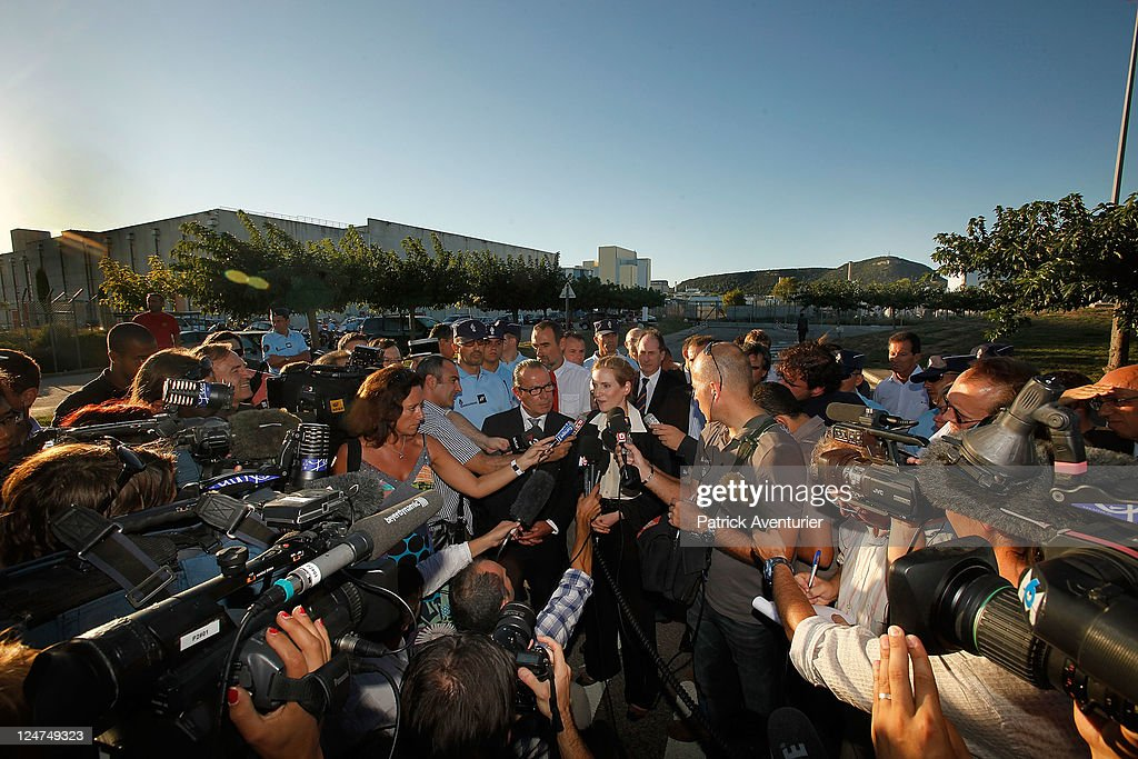 French Minister for Ecology Nathalie Kosciusko-Morizet speaks to members of the press at the Marcoule Nuclear Plant on September 12, 2011 in Marcoules, France. An investigation is underway to find the cause of an explosion which occurred at 11:45am killing one person and injuring four others, one seriously. EDF and the French Nuclear Safety Authority have both declared there were no radioactive leaks.