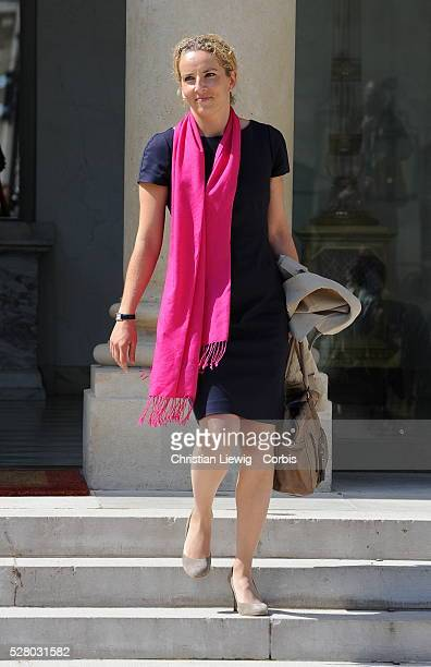 French Minister for Ecology Sustainable Development and Energy Delphine Batho arrives at Elysee Palace to the weekly cabinet meeting in Paris France...