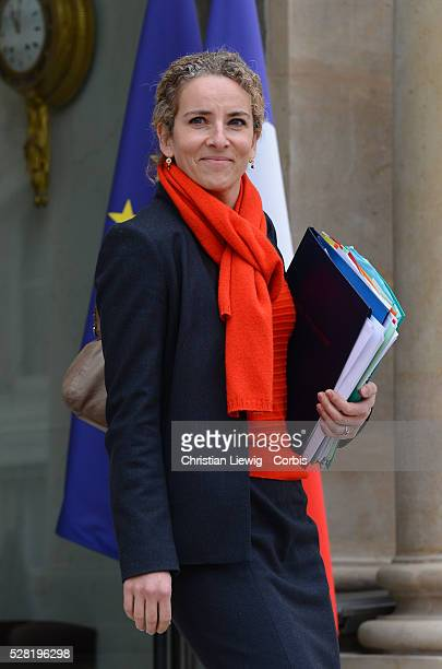 French Minister for Ecology Sustainable Development and Energy Delphine Batho leaves the Elysee presidential Palace after the weekly cabinet meeting...